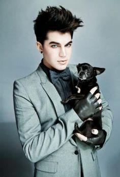 Adam Lambert and cute sidekick :)