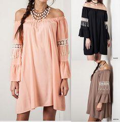 Eliza Bella for Umgee Boho Hippie-Chic Dress / Blouse Plus Sizes