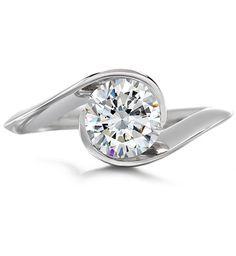 Diana Vincent - Platinum Engagement Ring - Engagement Rings #unique #original #bridal #modern #contemporary #handcrafted #MadeinAmerica #wedding