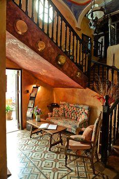 Hall de entrada a la Posada Casa del Abad de Ampudia hotel spa #hotelesconencanto #hotelesenpalencia #bucolichoteles