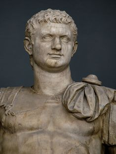 Statue of the emperor Domitian. Perhaps the head is replaced. Rome, Vatican Museums, Chiaramonti Museum, New wing, Photo by Sergey Sosnovskiy. Ancient Romans, Ancient Art, Roman History, Roman Emperor, 1st Century, Vatican, Antique Art, Rome, Celebrity