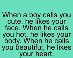 What if he calls you fabulous?? Does that mean he likes all three?? :)