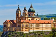 Melk Abbey is a Benedictine abbey in Austria, and among the world's most famous monastic sites. Description from pinterest.com. I searched for this on bing.com/images