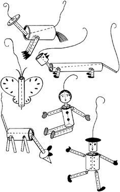 How to make a string puppet: You will need: Thin cardboard