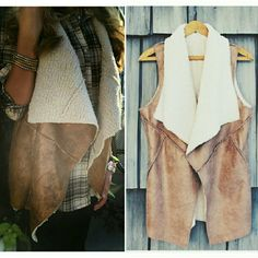 Brand new sherpa vest Beautiful sherpa vest, very warm and chic! Jackets & Coats Vests
