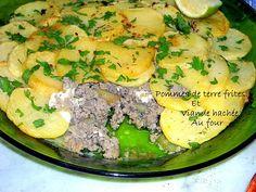 Pommes de terre frites à la viande hachée au four
