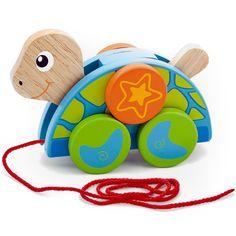 Húzható fa teknősbéka- guruló barátom | Pandatanoda.hu Játék webáruház