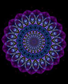 "Saatchi Art Artist: Gerald Dressel; Photography 2011 New Media ""Purple Mandala"""
