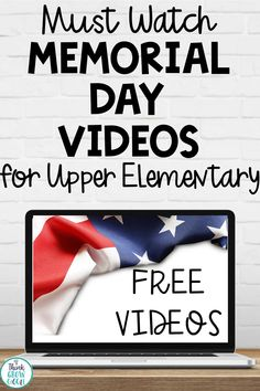 Memorial Day activities, videos and lessons to use with upper elementary students to understand American patriotism and American holidays. Learn about the history of Memorial Day. Classroom Jobs, Classroom Activities, Activities For Kids, Holiday Activities, Library Skills, Library Lessons, Upper Elementary, Elementary Schools, Elementary Teaching