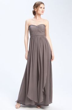 I LOVE THIS DRESS!!!! Jenny Yoo 'Aidan' Convertible Strapless Chiffon Gown available at #Nordstrom