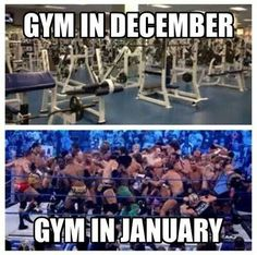 "There should be a third pic of ""Gym in February"" that looks identical to December... lol"