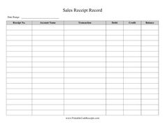 Businesses can use this printable journal to record sales transactions. Free to download and print