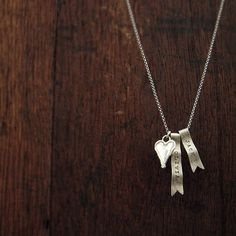 Sterling Silver Ribbon Necklace by go seek