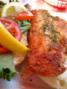 Fried walleye sandwich from Hotel Shoreham, Detroit Lakes, MN.