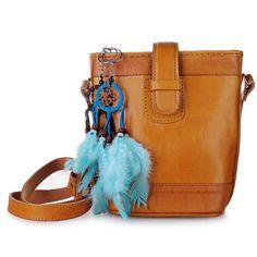 f7e26237bfee Sima Hippie Bohemian Women s Girl Small Sling Bag Genuine Leather Handmade  Brown