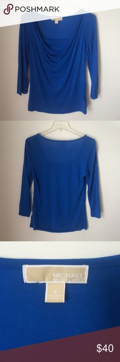 Michael Kors Cowl Neck Top Pre-Loved and good condition. Great color. MICHAEL Michael Kors Tops