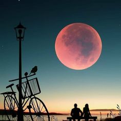 Image may contain: sky, cloud and outdoor Silhouette Photography, Silhouette Art, Beautiful Moon, Beautiful Images, Love Wallpaper, Wallpaper Backgrounds, Best Couple Pictures, Mystic Moon, Moon Pictures
