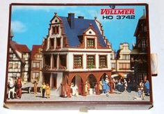 Vollmer Library Building Town Scene HO Scale # 3742 #Vollmer