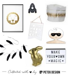 Add some gold  touch  monochrome items for a unisex kids room  tap the photo to check out these amazing shops by petekdesign