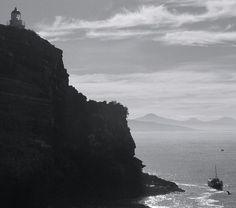 faro en peninsula, dunedin, isla sur nueva zelanda