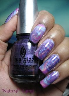 Have tried this it looks so cool! water marbled nails