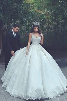 Princess Wedding Dresses for a Bride Like You Princess Wedding Dresses lace wedding gowns,princess wedding dress,ball gowns wedding dress,vintage wedding dress TRXOYBT V Neck Wedding Dress, Wedding Dresses 2018, Princess Wedding Dresses, Cheap Wedding Dress, Bridal Dresses, Tulle Wedding, Bridesmaid Dresses, Dress Prom, White Quinceanera Dresses