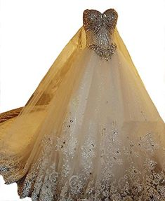 Angel Formal Dresses Womens Sweetheart Beading Lace Bridal Gown Wedding Dresses 16 White >>> Check out the image by visiting the link.