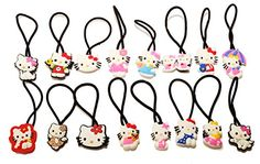 523115b9e 16 Pcs Hello Kitty Set of Elastic Hair Bands Hairband Hairbands Ponytail  Holders