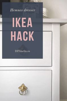 Easy IKEA hack! Transform your furniture with Annie Sloan's Chalk Paint in Paris Gray. Update your hardware from House of Antique Hardware.