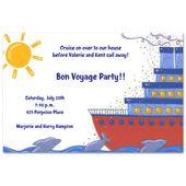Cruise Ship Invitations, 2149