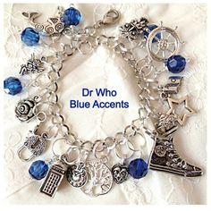 Doctor Who Charm Bracelet Tribute Jewelry geekery Style with Tardis | UberJewelryDesigns - Jewelry on ArtFire