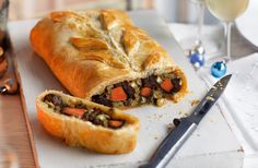This special sweet potato, chestnut and Stilton Wellington dish is a delicious vegetarian main that combines nutty, sweet and cheesy flavours. This flaked pastry wrapped recipe is perfect for entertaining your veggie guests.