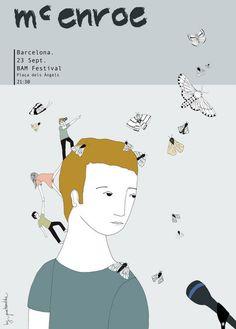McEnroe (a collection of posters) by Estibaliz Hernandez de Miguel, via Behance