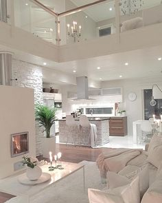 Try To Decorating With Luxury White Living Room Design 01 - Home Decor Design Dream House Interior, Luxury Homes Dream Houses, Dream Home Design, Modern House Design, Interior Design Living Room, Living Room Decor, Modern Interior, Modern Luxury, Kitchen Interior