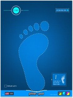 Pitter Pad- This app will help you find your child's shoe size. (Works on: iPad)