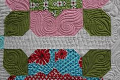 A close-up of some amazing quilting by @Angela Walters