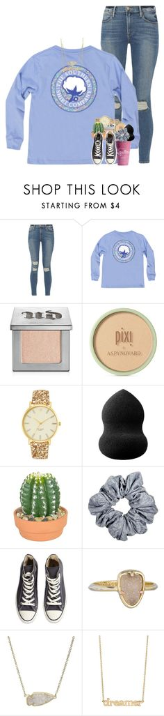 """throwback to the way my life was last year"" by ellaswiftie13 on Polyvore featuring Frame, Urban Decay, Pixi, Kate Spade, blacklUp, The French Bee, Converse, Kendra Scott and Jennifer Meyer Jewelry"