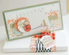 Stampin' Cards and Memories: Hello, baby, Envelope Punch Board, Little Sunshine, Bundled Baby, Sweet Dreams DSP