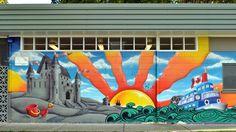 Mural at downtown park. Kamloops, BC