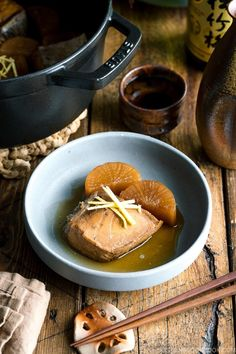Buri Daikon (Simmered Yellowtail and Daikon) ブリ大根 • Just One Cookbook Restaurant Recipes, Seafood Recipes, Snack Recipes, Cooking Recipes, Snacks, Easy Japanese Recipes, Asian Recipes, Japanese Grocery, Japanese Soup