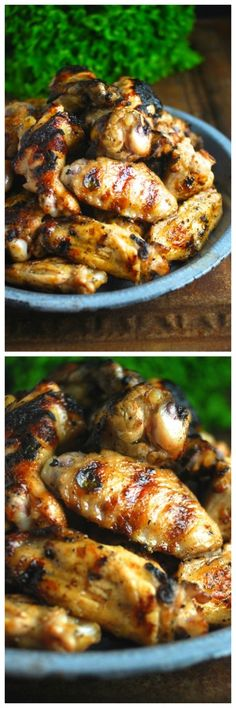 Garlicky Lemon Cuban Chicken Wings, marinated in lemon juice, oregano & garlic. Perfect for Super Bowl, tailgate party, or football game day at home. Paleo, gluten-free, Whole30 approved.
