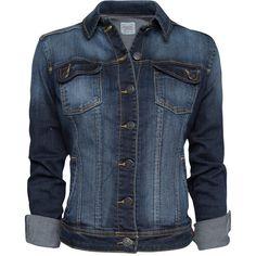 MANGO Worn Effect Denim Jacket ($70) ❤ liked on Polyvore