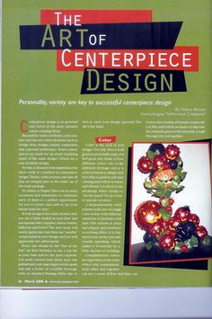This article in Party & Paper Magazine was full of centerpiece design ideas by Nancyfangles