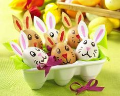 paper crafts and fabric easter decorations