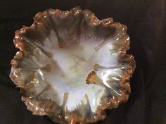 Bowl by Susan Garrett, Potters Choice Artic Blue in center, Ancient Jasper on sides Cone 6
