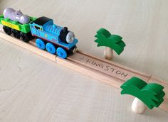 Personalized wooden train track from Woodpeckers. Woodpeckers, Wooden Train, Brio, Train Tracks, Special Gifts, Swarovski, Handmade Gifts, Toys, Shop