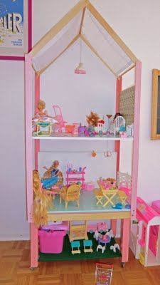 a 172 cm high Barbie house on wheels. As a child a dreamt of having Barbies and a huge Doll house.. so now that I have a little girl at home, I realize all I have ever dreamed of and hope she loves it as much as I would have.