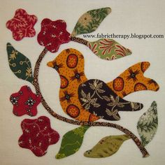 """I have managed to finish 8 more little hand applique blocks from Lori Smith's pattern, """"Miss Emilie's Garden."""" They will finish about 6..."""