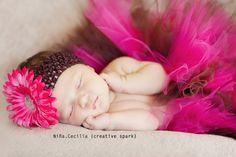 #newborn #baby #photography #tutu #poses