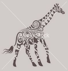 Giraffe ornament vector by cundrawan703 - Image #985221 - VectorStock